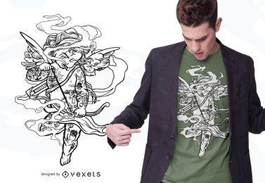 Trashiger Amor-T-Shirt Entwurf