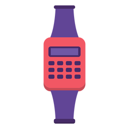 Relógio flat dos anos 90