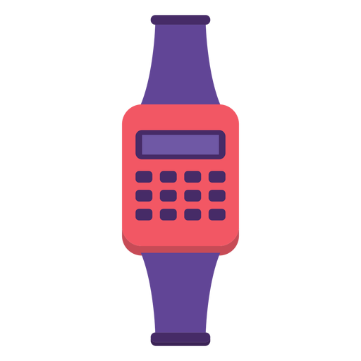 Reloj Flat 90s Transparent PNG