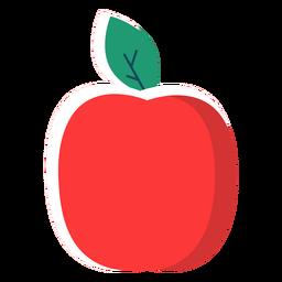 Frutos de maçã plana