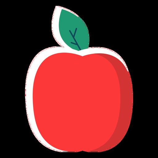 Flat apple fruit Transparent PNG