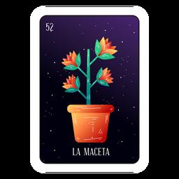 Cartão de loteria de pote de flor