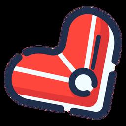 Icono de filete de corazón de comida