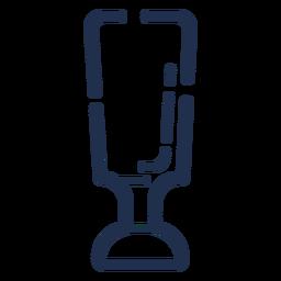 Icono de vidrio alto