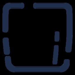 Icono simple de vidrio