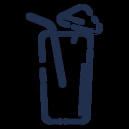 Glas mit Strohhalm