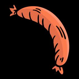 Dibujado a mano salchicha de alemania