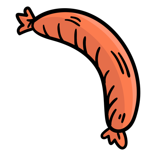 Hand drawn germany sausage Transparent PNG