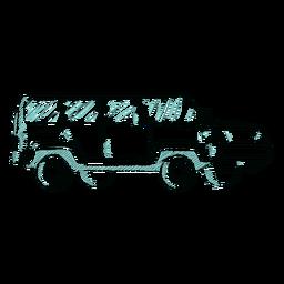 Desenho de jipe desenhado à mão