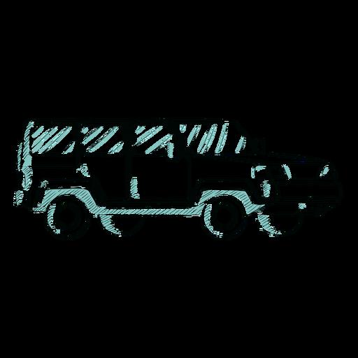 Bosquejo de jeep dibujado a mano Transparent PNG