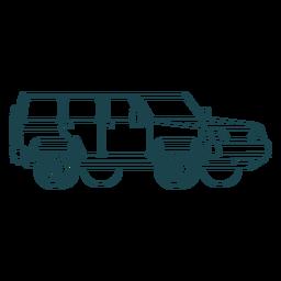 Jeep largo dibujado a mano