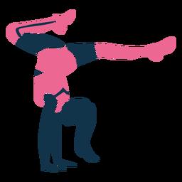 Hand stand cheerleader