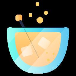 Ilustração de suco gelado