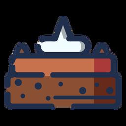 Choco de tarta de icono