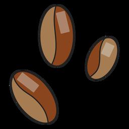 Grãos de café de ícone