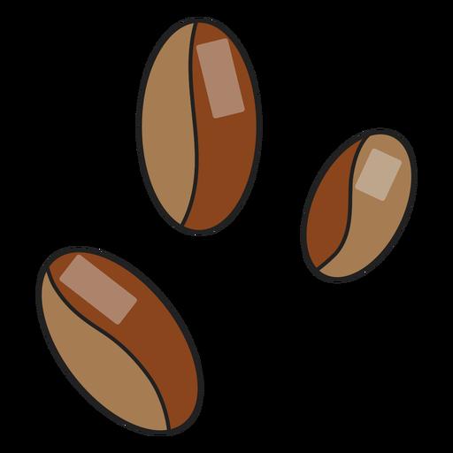 Granos de café de icono