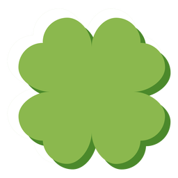 Irland vierblättriges Kleeblatt