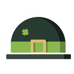 Irish hat colored