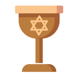 Israel wine glass