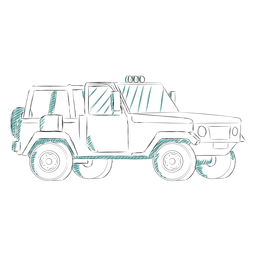 Jeep luces en la parte superior
