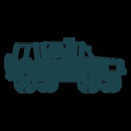 Jeep ohne Dach