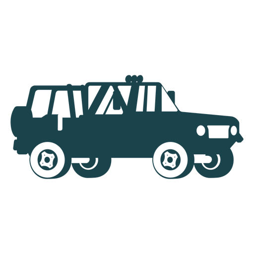 Jeep with no roof Transparent PNG