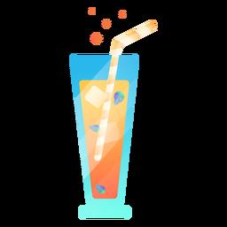 Ilustração fria de suco