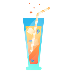 Juice cold illustration