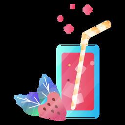 Ilustración de bebida de jugo