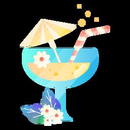 Ilustración de vidrio de jugo