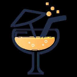 Juice with umbrella