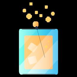 Ilustração deliciosa de suco