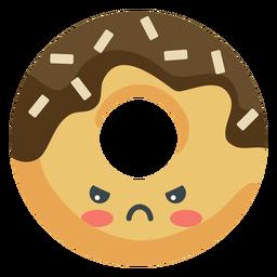 Donut enojado kawaii
