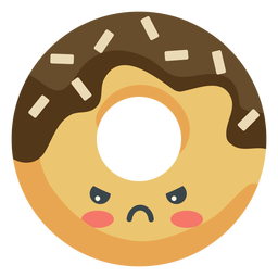 Kawaii donut com raiva