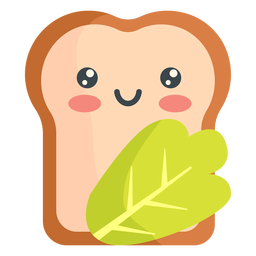 Kawaii bread veggie