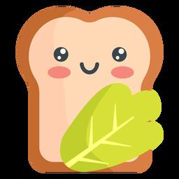 Verduras de pan kawaii
