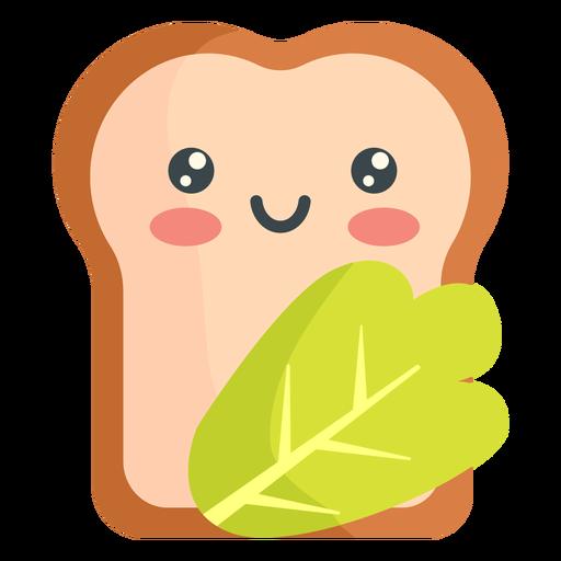 Vegetales de pan kawaii Transparent PNG