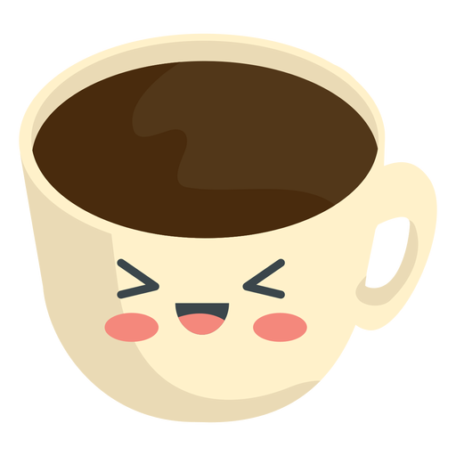 Taza de café kawaii Transparent PNG