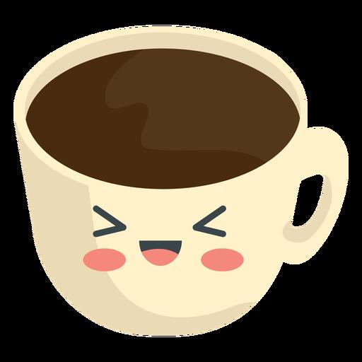 Taza de café kawaii Transparent PNG