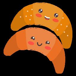 Croissants lindos kawaii