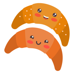 Kawaii cute croissants