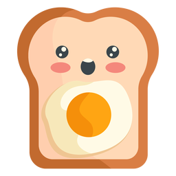 Tostada de huevo kawaii
