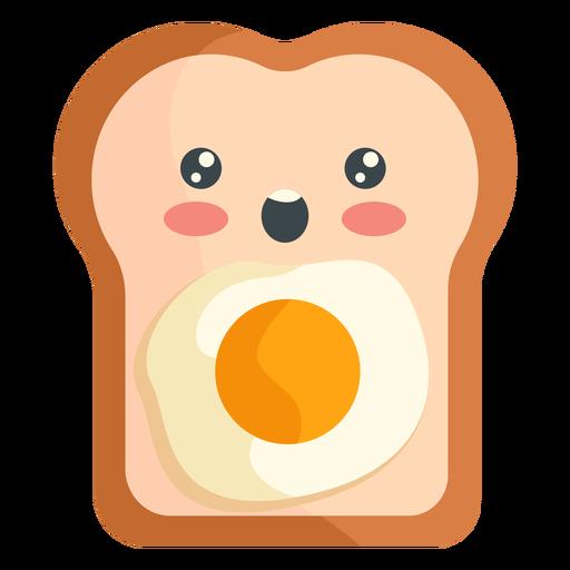 Tostada de huevo kawaii Transparent PNG