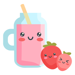 Kawaii fruit juice