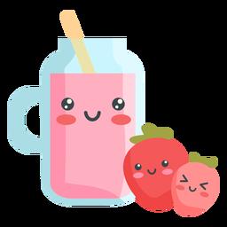 Suco de frutas kawaii