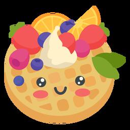 Kawaii glücklicher Pfannkuchen