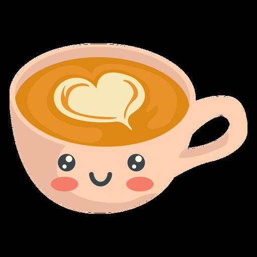 Kawaii lächelnder Cappucino