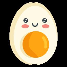 Huevo sonriente kawaii