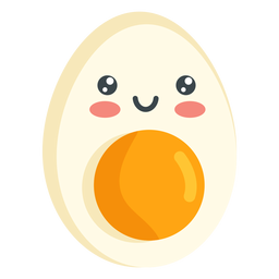 Kawaii smiling egg