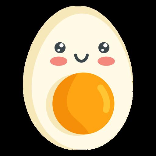 Kawaii smiling egg - Transparent PNG & SVG vector file